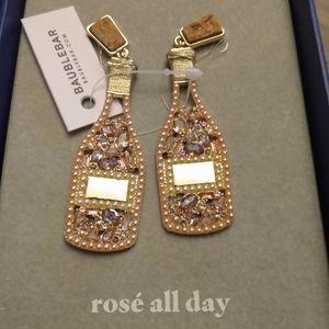 Baublebar champagne crystal earrings new in box
